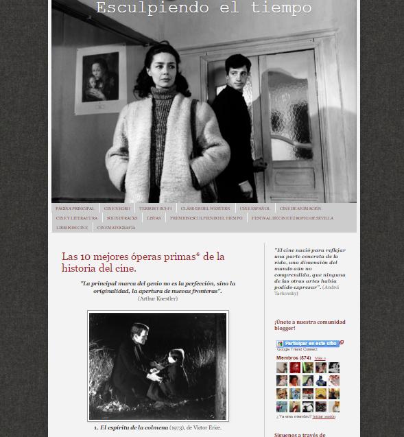 Captura de pantalla general de este gran blog de críticas de cine universal