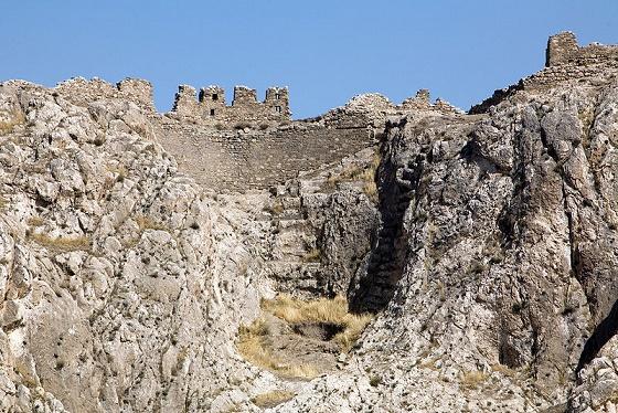 Estado actual de la puerta sur de Tushpa, capital de Urartu