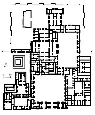 Plano del palacio de Dur-Sharrukin