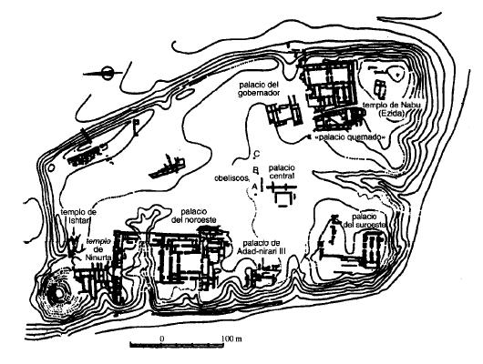 Planta de la ciudadela de la ciudad capital de Kalkhu Nimrud