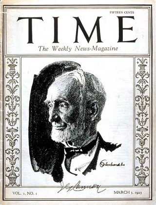 Primera portada de la revista Time, publicada el 3 de marzo de 1923