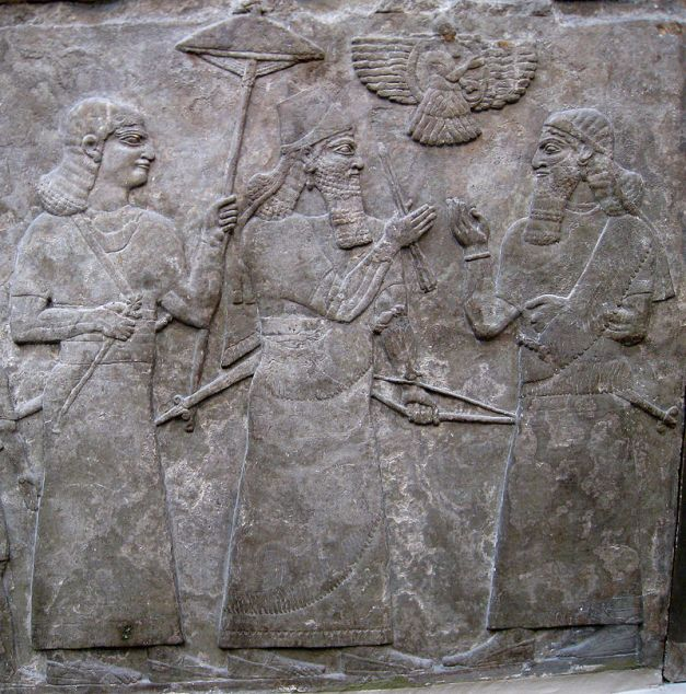 Relieve en el que se muestra al rey asirio Assurnasirpal II