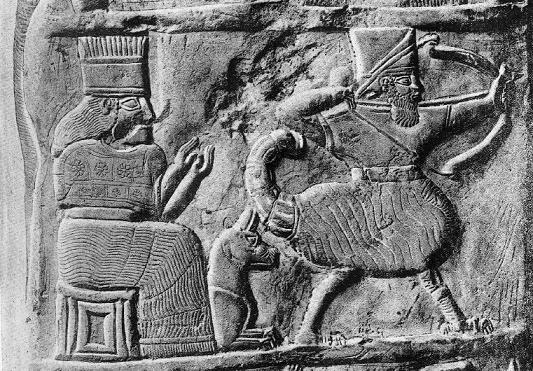 Una de las escenas del kudurru que narra la batalla decisiva entre babilonios y elamitas
