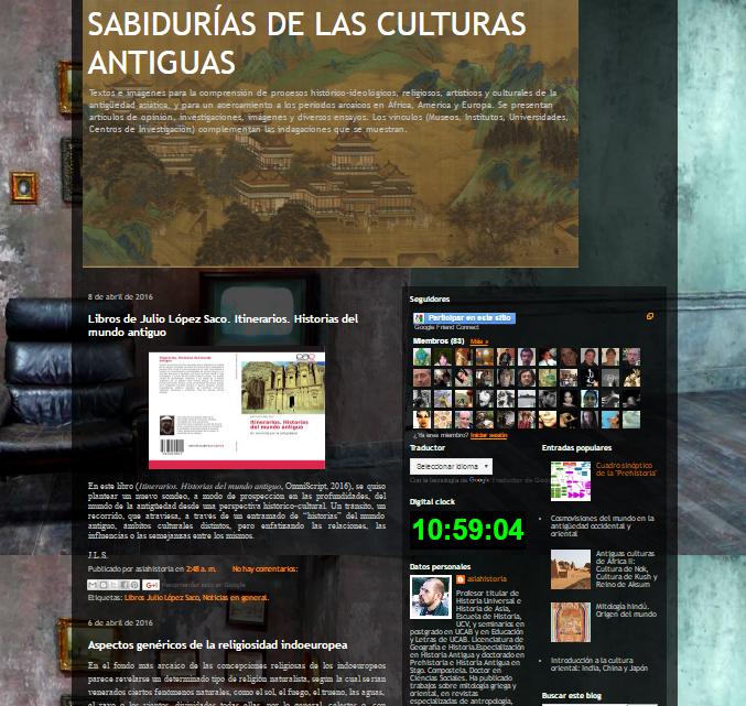 Captura de pantalla general de este gran blog de Historia asiática