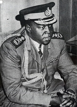 Fotografía del dictador ugandés Idi Amin en 1973