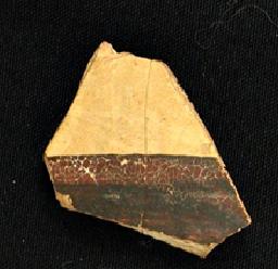 Fragmento de Cerámica Micénica hallada en el Yacimiento del Llanete de los Moros (Montoro, Córdoba)
