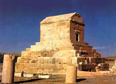 Mausoleo de Ciro II el Grande en Pasargada, Irán