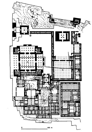 Planta de Persépolis, una de las capitales del imperio persa