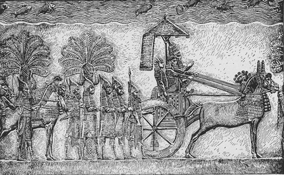 Relieve de Senaquerib de su palacio en Nínive