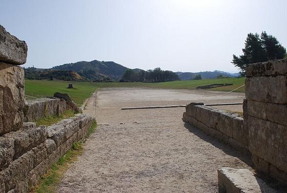 Ruinas del estadio de Olimpia, en el que se celebraban los Juegos Olímpicos
