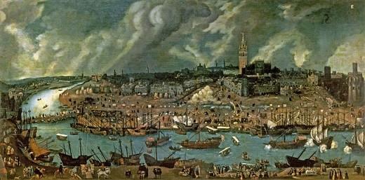 Cuadro representando la Sevilla del siglo XVI