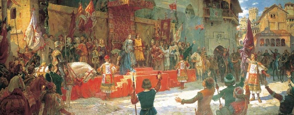 Cuadro que representa la proclamación de los Reyes Católicos en Segovia