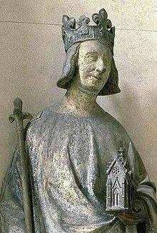Estatua del Delfín Carlos, futuro Carlos V de Francia el Sabio (1364-1380), conservada en el Museo del Louvre