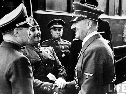 Francisco Franco y Adolf Hitler en Hendaya