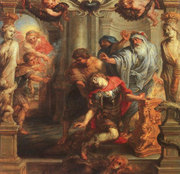 La muerte de Aquiles, cuadro de Rubens