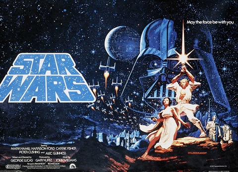 Póster original de Star Wars en 1977