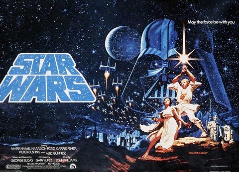 Póster original de Star Wars en 1977
