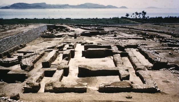 Vista parcial del yacimiento arqueológico de la ciudad de Lerna