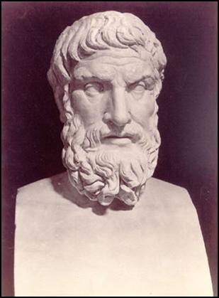 Busto del filósofo Epicuro