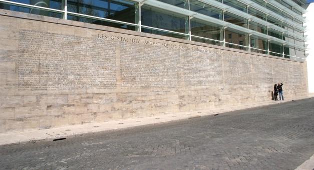 Copia de la inscripción monumental del Res Gestae de Augusto
