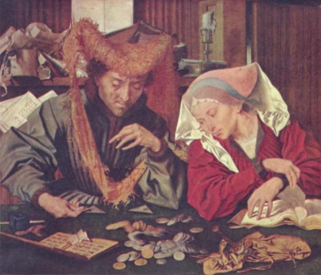 """Cuadro """"El cambista y su mujer"""", de van Reymerswaele"""