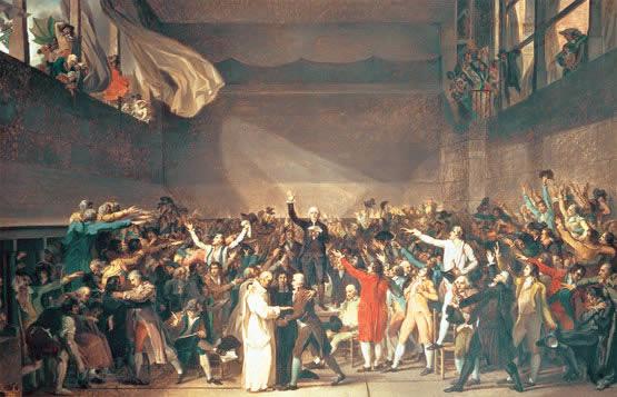 Cuadro en el que se refleja el juramento de la Asamblea Nacional de 1789