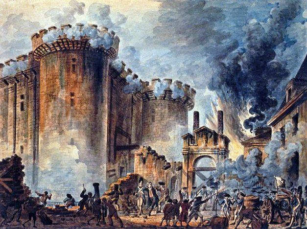 Cuadro en el que se representa la toma de la Bastilla, el 14 de julio de 1789