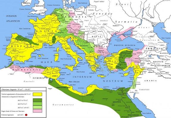 El Imperio Romano de Augusto, primer emperador
