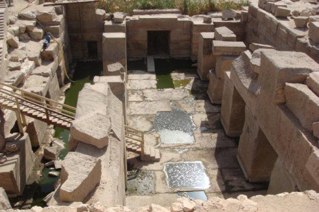 Estado actual del Osireion de Abydos de Ramsés II