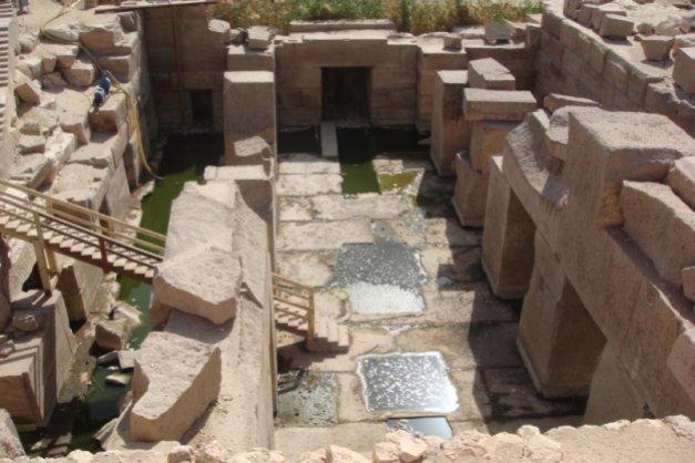 Estado actual del Osireion de Abydos