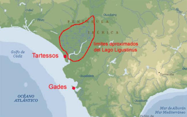 Localización de Tartessos en el sur de la península Ibérica de acuerdo a Adolph Schulten