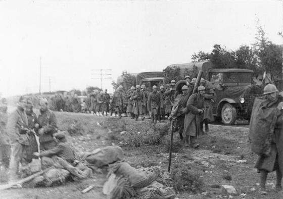 Soldados italianos durante la Batalla de Guadalajara