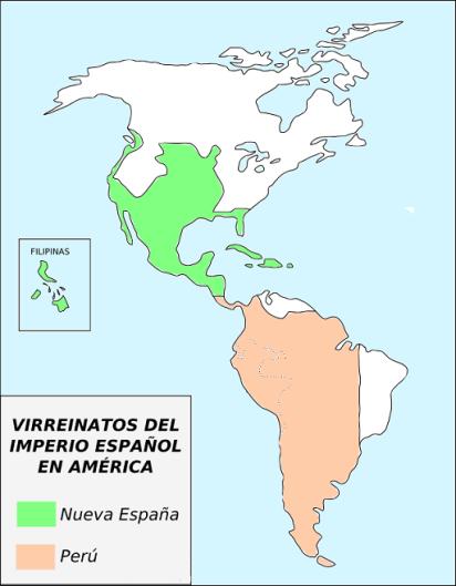 Virreinatos originales del imperio español en América