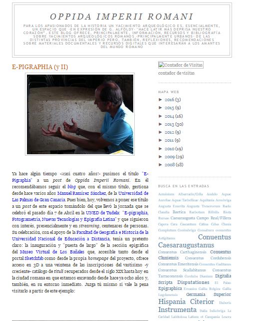 Captura de pantalla de este gran blog del mundo arqueológico romano