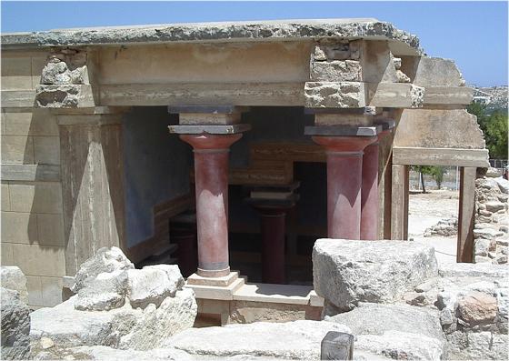 Una de las cámaras reales del palacio de Cnosos