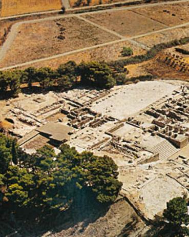 Vista desde el aire de parte del yacimiento arqueológico de Monastiraki