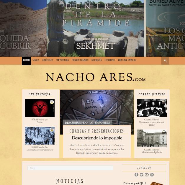 Captura de pantalla de esta magnífica web de egiptología