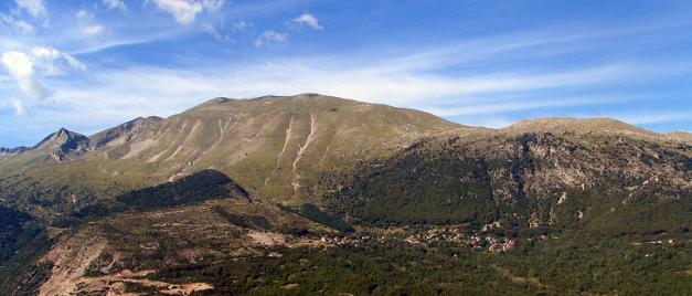 Vista general de los montes Pindo