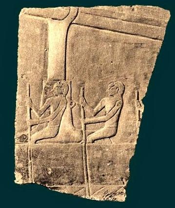 Fragmento de otro relieve de Mentuhotep II en su templo morturio