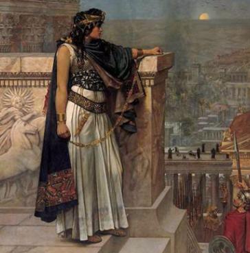 La última mirada a Palmira de la reina Zenobia, (Herbert Schmalz)