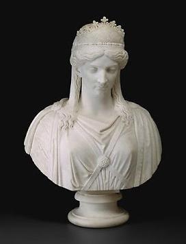 Zenobia, reina de Palmira (Harriet Hosmer, 1857)