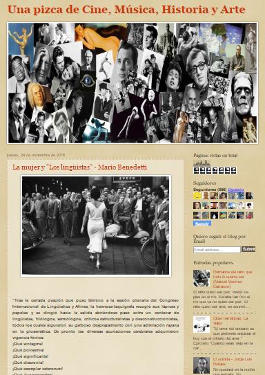 Captura de pantalla general de este magnífico blog