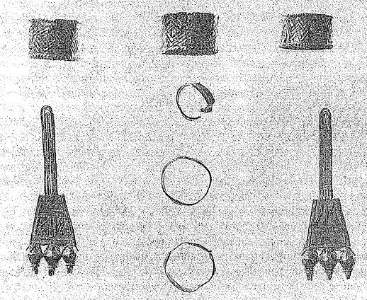 Joyas de oro provenientes de la cremación de una ateniense rica de mediados del s. IX a.C. (Pomeroy, 2012)