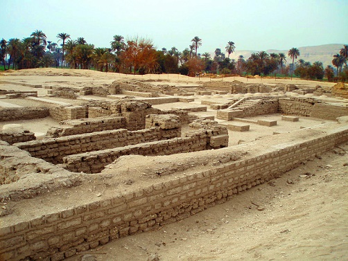 Parte del yacimiento arqueológico de Tell-el-Amarna