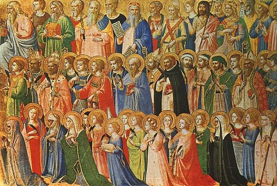 Representación de Todos los Santos hecha por Fra Angelico en el siglo XV