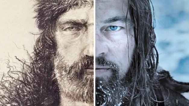 Imagen comparativa entre el personaje verdadero y el de Leonardo di Caprio