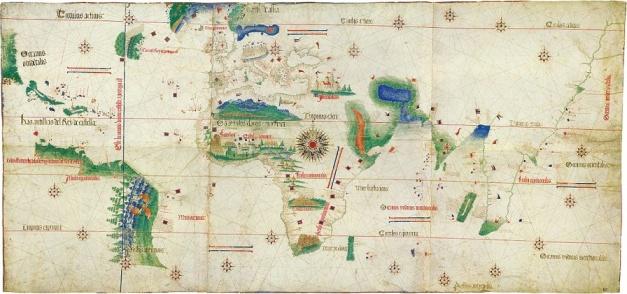 la carta náutica portuguesa más antigua conocida