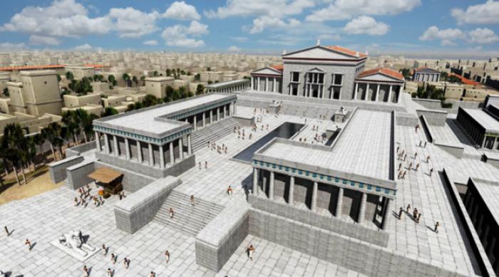 Reconstrucción de la Gran Biblioteca de Alejandría llevado a cabo por la web NixPixMix