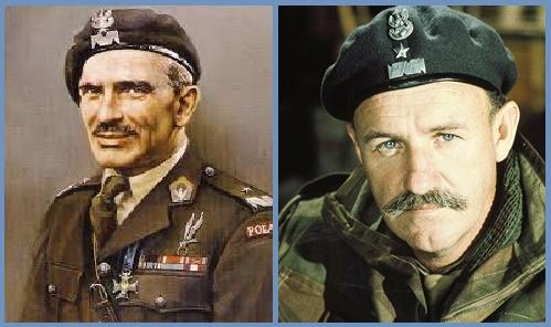 Stanislaw Sosabowsky en la vida real y en la película interpretado por Gene Hackman